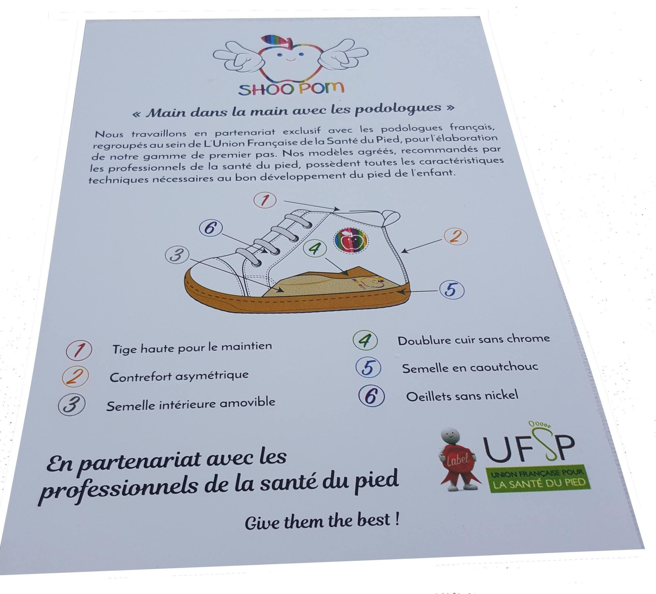 Shoo pom partenaire de l'UFSP [l'Union Française de la Santé du Pied]