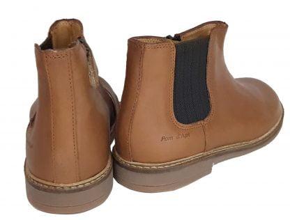 un cuir lisse camel pour la boots mixte élastiquée et zippée, la Retro Jodzip de Pom d'Api