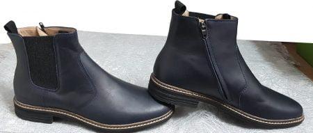 une boots mixte pour junior, la Brother Jodzip en cuir avec élastique sur le côté extérieur et 1 zip