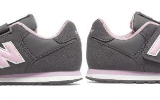basket bébé Iv373 ou YV373 pour junior coloris gris et rose fermée par 1 velcro, modèle pour fille New Balance