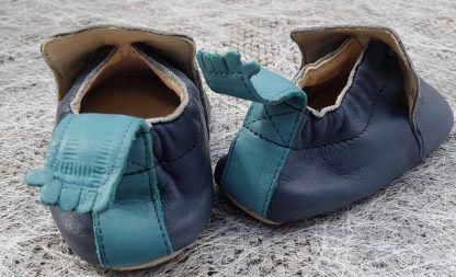 chausson pré-marche Blublu Etoile en cuir marine et bleu, modèle Easy Peasy