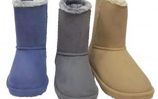 Fourrée à l'intérieure, les bottes Cosy serviront pour la pluie ou la neige. Beige, bleu et gris les 3 couleurs de Cosy signée Be Only