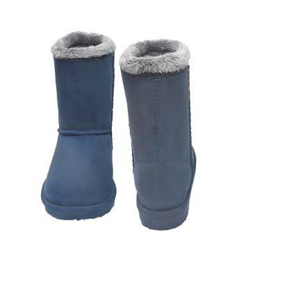 Be Only, des bottes en PVC et fourrure pour enfants. Cosy bleu s'enfile tout simplement, elle est dotée d'une semelle en caoutchouc