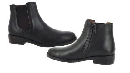une bottine enfant enfant en cuir noir pour la bottine Suzan de Bellamy fermée par 1 zip