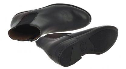 bottine en cuir noir doté d'un élastique d'aisance noir signée Bellamy. Suzan est fermée par un zip latéral