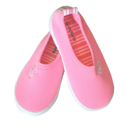un néoprène rose avec ancre blanche pour la chaussure enfant Victoria