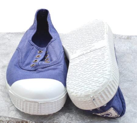 basket toile junior de couleur Tinta avec élastique sur le pied. Modèle pour junior Victoria