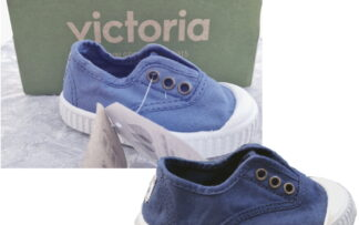 chaussure toile unisexe anil ou marine avec élastique sur le pied. Modèle Inglese 6627 de Victoria