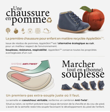 Stand Up, une chaussure issue de résidus de pomme, AppleSkin
